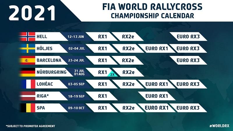 Calendar Rallycross